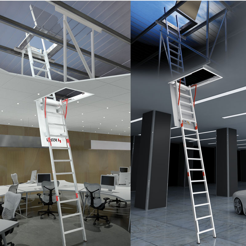 pull down ladders - height safety systems