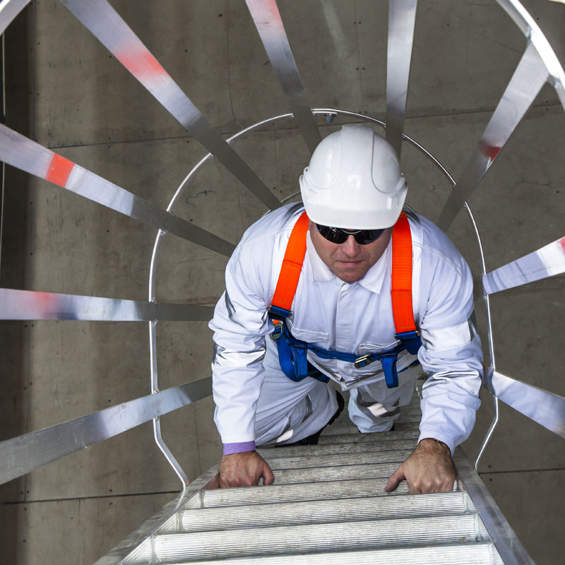 cooling tower platforms - height safety systems